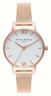 Olivia Burton | vrouwen | rosegouden armband witte wijzerplaat | OB16MDW01