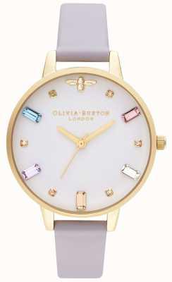 Olivia Burton | dames | regenboog bij | demi parma violet bandje OB16RB11
