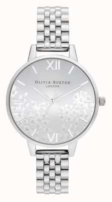Olivia Burton   dames   met juwelen getooide kant   roestvrij stalen armband   OB16MV101