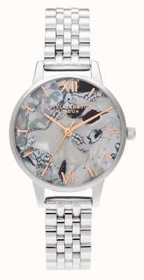 Olivia Burton | dames | abstracte bloemen wijzerplaat | stalen armband | OB16VM38
