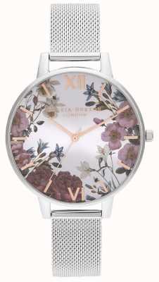 Olivia Burton | dames | Britse bloemen | roestvrij stalen gaas armband | OB16EG133