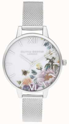 Olivia Burton | dames | betoverde tuinen | stalen gaas armband | OB16EG136