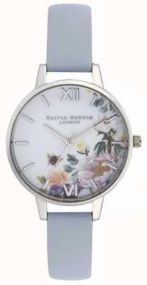 Olivia Burton | dames | betoverde tuin | krijt blauwe lederen band | OB16EG114