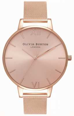 Olivia Burton | vrouwen | grote zonneknop rosegouden armband OB16BD102