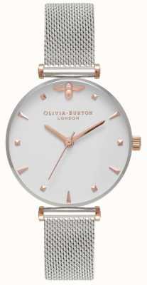 Olivia Burton | dames | bijenkoningin | roestvrij stalen gaas armband | OB16AM140