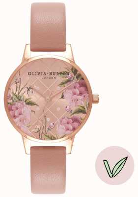 Olivia Burton | vrouwen | florale wijzerplaat | veganistisch rose zandband | OB16VE02