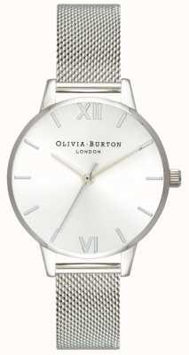 Olivia Burton   vrouwen   sunray midi-wijzerplaat stalen mesh armband   OB16MD86