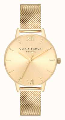 Olivia Burton | vrouwen | sunray midi-wijzerplaat gouden netwerkarmband OB16MD85