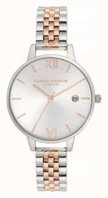 Olivia Burton | vrouwen | demi datum | tweekleurige roestvrijstalen armband | OB16DE06