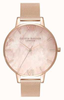 Olivia Burton | dames | half kostbaar | roségouden armband van mesh | OB16SP01