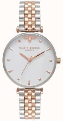 Olivia Burton | dames | bijenkoningin | tweekleurige staaf armband | OB16AM93