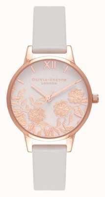 Olivia Burton   vrouwen   kanten detail   blozen en rose goud   OB16MV69