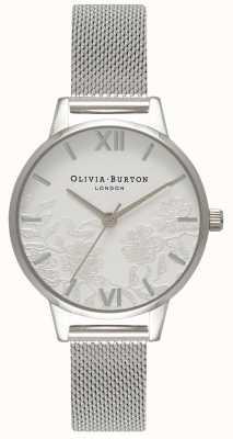 Olivia Burton   vrouwen   kanten detail   roestvrijstalen mesh armband   OB16MV54