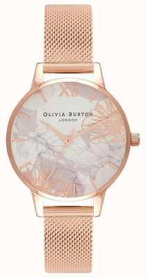 Olivia Burton   vrouwen   abstracte bloemen   rosegouden armband OB16VM11