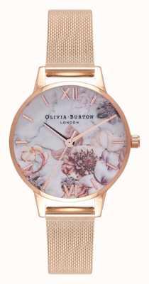 Olivia Burton | vrouwen | marmeren bloemen | rosegouden armband OB16CS06