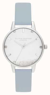 Olivia Burton   vrouwen   het wensende horloge   veganistisch krijt blauwe riem   OB16SG07
