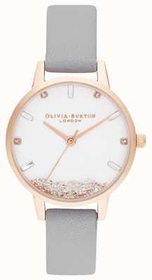 Olivia Burton | vrouwen | het wensende horloge | grijze riem | OB16SG08