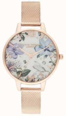 Olivia Burton   vrouwen   met juwelen getooide bloemen   rosegouden armband OB16BF27