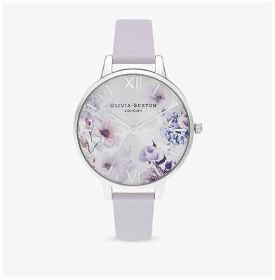 Olivia Burton | vrouwen | zonlicht florals | lederen riem van parma violet | OB16EG137