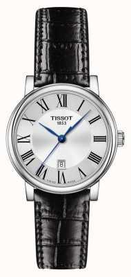 Tissot | Carson Classic | zwarte leren riem | zilveren wijzerplaat | T1222101603300