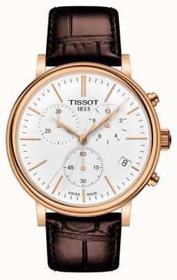 Tissot | Carson premium chronograaf bruine leren riem | T1224173601100