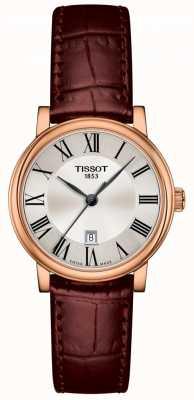 Tissot | Carson premium dame | bruine leren riem | T1222103603300
