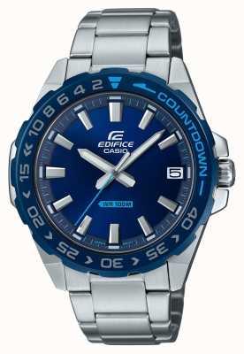 Casio | heren | bouwwerk | klassiek | blauwe wijzerplaat | roestvrij staal | EFV-120DB-2AVUEF