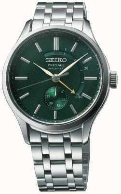 Seiko Vooraf ingestelde automatische 'cocktailtijd' zen tuin groene wijzerplaat roestvrij staal SSA397J1