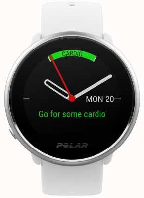 Polar Ontsteken | activiteits tracker | hartslag | witte siliconen | s 90072456