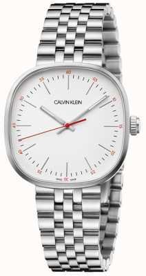 Calvin Klein | heren armband in edelstaal | zilveren vierkante wijzerplaat | K9Q12136