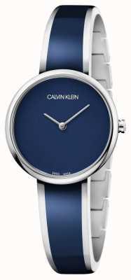 Calvin Klein | vrouwen verleiden | roestvrij staal blauwe harsarmband | K4E2N11N
