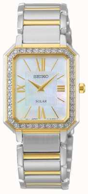Seiko | conceptuele serie | klassiek | zonne | tweekleurige armband | SUP428P1