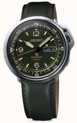 Seiko prospex | heren | buiten | groen leer | SRPD33K1