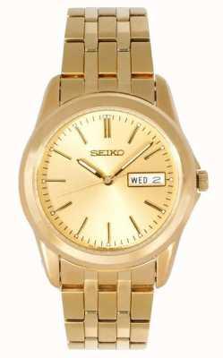Seiko Gents goudkleurige armband horloge SGGA48P1