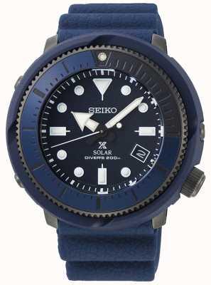 Seiko | prospex | straat series | marineblauw siliconen | duiker | SNE533P1