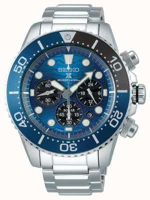 Seiko | prospex duiker | red de oceaan | blauwe chronograaf wijzerplaat | SSC741P1
