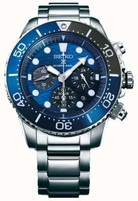 Seiko | prospex duiker's red de oceaan | blauwe chronograaf wijzerplaat | SSC741P1
