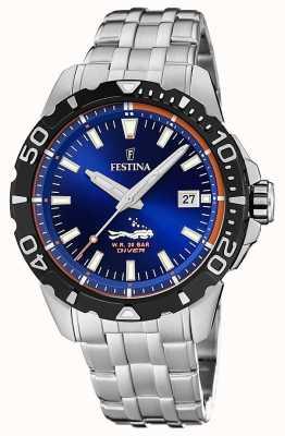 Festina | heren duikers | roestvrijstalen armband | blauwe wijzerplaat | F20461/1