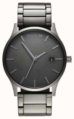 MVMT Klassieke monochrome link | pvd vergulde armband | grijze wijzerplaat D-MM01-GR