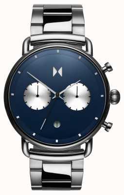 MVMT Blacktop astro blauw | roestvrij staal | blauwe wijzerplaat D-BT01-BLUS