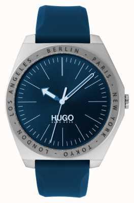HUGO #act | blauwe rubberen band | blauwe wijzerplaat 1530105