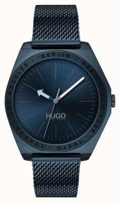 HUGO #act | blauwe ip mesh | blauwe wijzerplaat 1530109