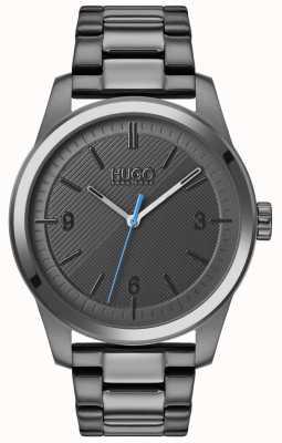 HUGO #creëren | grijze ip armband | grijze wijzerplaat 1530119