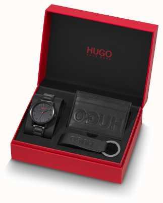 HUGO #rase | cadeauset | sleutelhanger | kaarthouder | zwarte ip armband 1570096