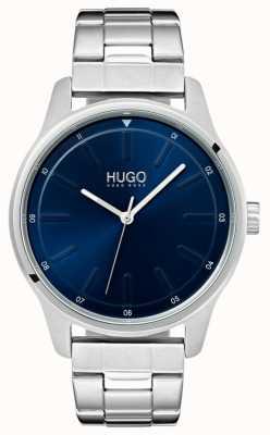 HUGO #dare | roestvrij stalen armband | blauwe wijzerplaat 1530020