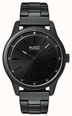 HUGO #dare | zwarte ip armband | zwarte wijzerplaat 1530040