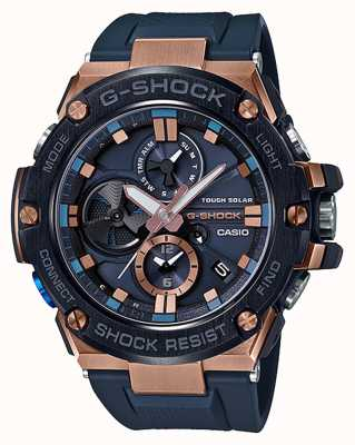Casio | g-shock | g-staal | bluetooth | chronograaf | blauw | GST-B100G-2AER