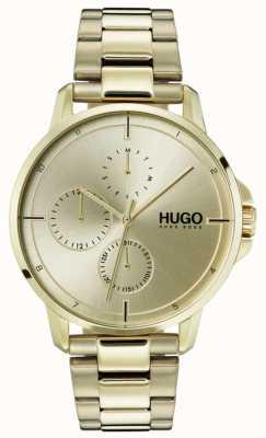 HUGO #focus | gouden ip armband | gouden wijzerplaat 1530026