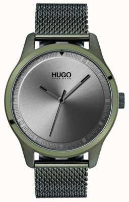 HUGO #move | groene ip mesh armband | grijze wijzerplaat 1530046