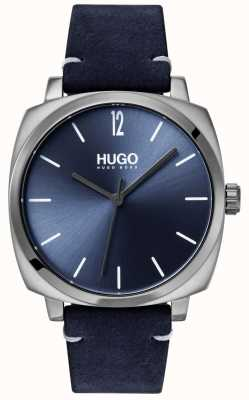 HUGO #own | blauwe lederen band | blauwe wijzerplaat 1530069